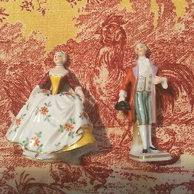 ANTIQUE SITZENDORF PORCELAIN Victorian couple  FIGURINE GERMANY