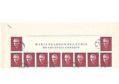 POLSKA STAMPS 1970.timbre pologne.MARIE CURIE