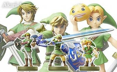 New Nintendo amiibo Link Set of 3 Skyward Sword Twilight Princess Majora's Mask