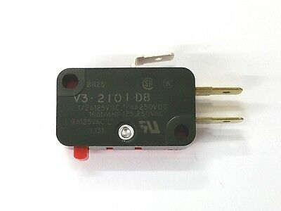 NEW Micro Switch V3-2101-D8 SPDT ON - (ON) Pin Plunger Snap Action Switch 10A