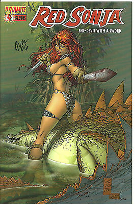 Red Sonja She-Devil with a Sword #4 : Signed by Michael Avon Oeming