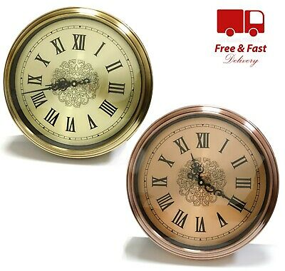 Large Wall Clock Round Classic Roman Numerals Decor Choice of Silver & Gold 40CM