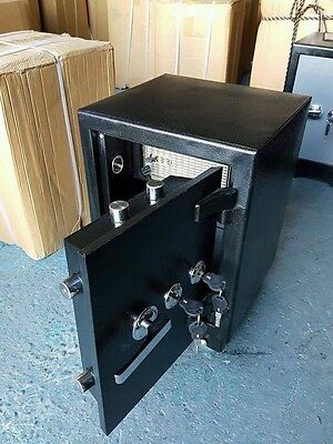 Large Twin Locks Steel and Concrete Safe Home Office Heavy Duty