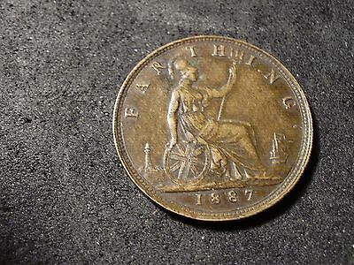1887 Great Britain farthing coin - -sh Canada is 1.50