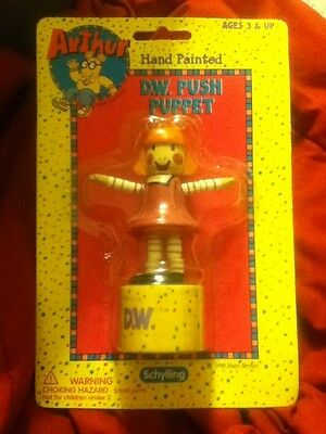 D.W. PUSH PUPPET Sealed Package, Marc Brown, Schylling 1998