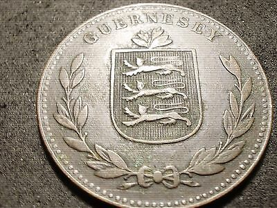 1920 Guernesey 8 doubles coin - -sh Canada is 1.50