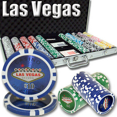 NEW 750 PC Las Vegas 14 Gram Clay Poker Chips Set Aluminum Case Pick Your Chips