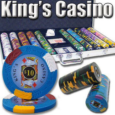 NEW 750 PC King's Casino 14 Gram Pro Clay Poker Chips Set Aluminum Case Custom