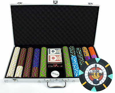 NEW 750 Rock & Roll 13.5 Gram Clay Poker Chips Aluminum Case Set Pick Your Chips