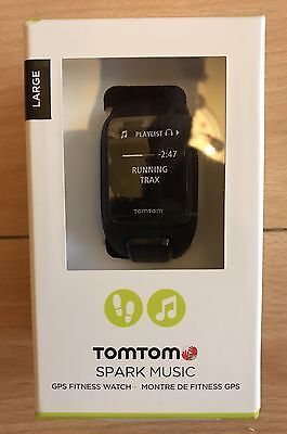 Tom Tom Spark Music GPS Fitness Watch LARGE Free P&P