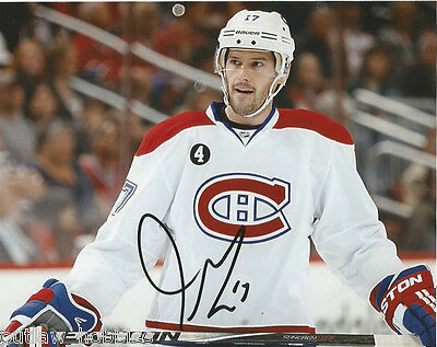 Montreal Canadiens Torrey Mitchell Signed Autographed 8x10 NHL Photo COA B