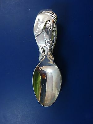 EEYORE Silver Plated Curved Handle Baby Spoon by Lunt (#1377)