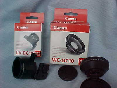 Canon WC-DC10 Wide Converter 0.8x with LA-DC10 Lens Adapter - NEW Items!