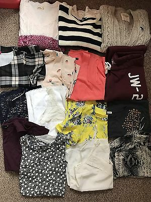 Womens Tops Cardigans Jumpers Trackies Bundle Size 12 14 Hollister Topshop Oasis