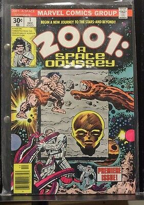 2001 A Space Odyssey #1 Dec 1976 Marvel Comic Book Premiere Issue Kirby VG - FN