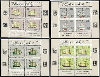 Argentina 1979 Buenos Aires Stamp Exhibition Sheetlets Mnh Cat £176 (4)