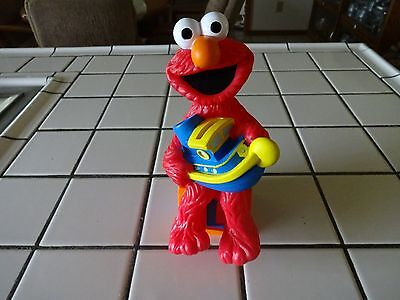 "9"" Tall Jim Henson Sesame Street Elmo W/boat Coin/piggy Bank By Applause"
