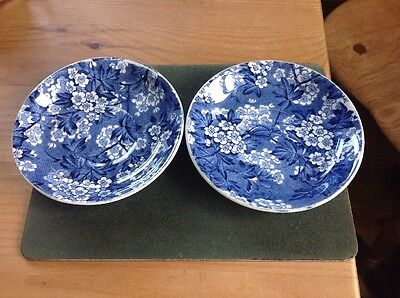 Blue And White Saucers