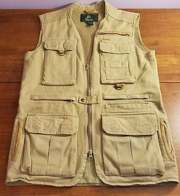 Vintage Orvis Zambezi Munitions,Hunting,Photography Vest With Leather Trim Small