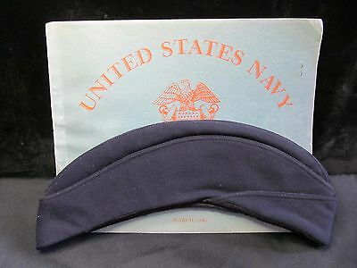 WW II US Navy Waves Fleet Post Office Uniform Cap Wool Garrison Hat and PO Book