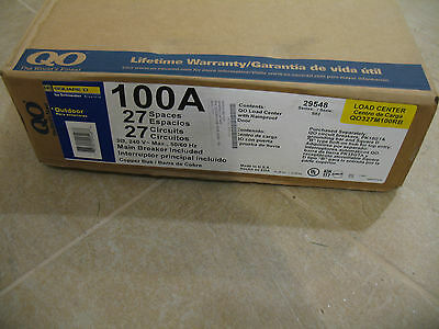 New Square D Qo327M100Rb 100A 3 Ph Circuit Breaker Panel Outdoor Main Inc