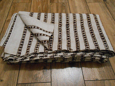 Antique Hand Woven Heavy HEMP&WOOL RUG/Coverlet Ukraine Pokuttia 19th 1,3x2m