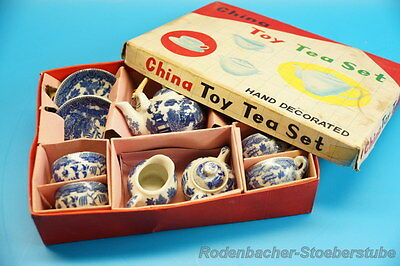 China Toy  Tea Set / Teeservice - blau,weiß mit OVP (G954)