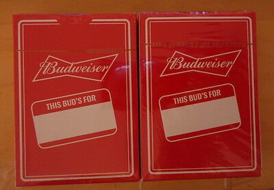 Budweiser Playing Cards 2 packs New