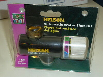 Nelson Rain Date Automatic Water Shut Off Timer Controller Model 5200