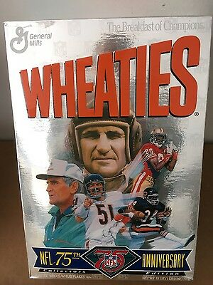 1994 NFL 75th Anniversary Edition Wheaties Cereal Box Don Shula/Dick Butkus full