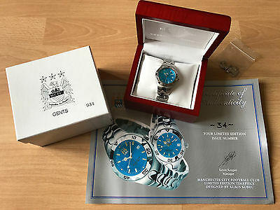 LIMITED EDITION Klaus Kobec MANCHESTER CITY F.C. watch (number 34 of 950)