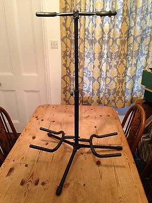 Double / Dual Guitar Stand