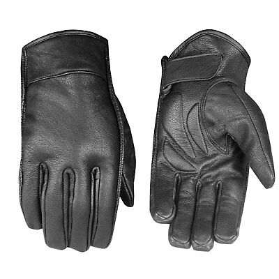 Men's Premium Leather Summer Motorcycle Cruiser Touring Biker Gel Gloves