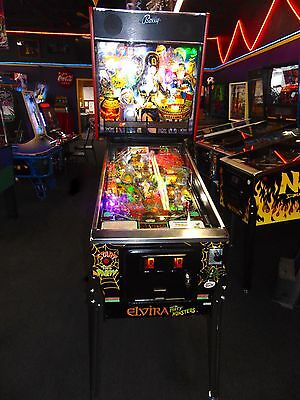 Elvira and The Party Monsters Pinball Machine  *** LED's ****  VERY NICE