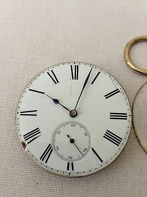 Pocket Watch Movement & Face (from 9ct  Pocket Watch)