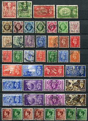 Great Britain collection of 163 mh/u stamps.