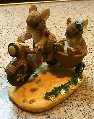 Charming Tails ALONG FOR THE RIDE Motorcycle Mouse Figurine 89/100