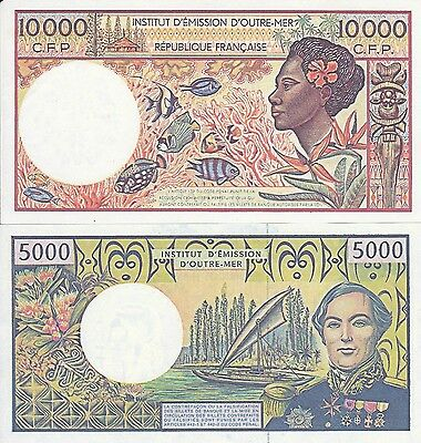 Replicas/reproductions-French Pacific Territories--10000 And 5000 France--Unc