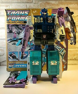 Transformers G1 Powermaster Overlord Energon - 99% complete