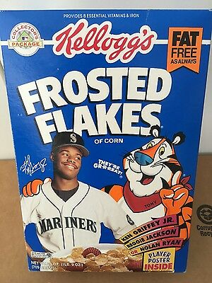 Ken Griffey Jr (Hall of Famer) Frosted Flakes Rookie Year Box  Full - New
