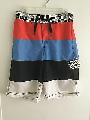 OLD NAVY Boys Bathing Suit Swim Trunks Board Shorts L Large 10/12 Colorblock