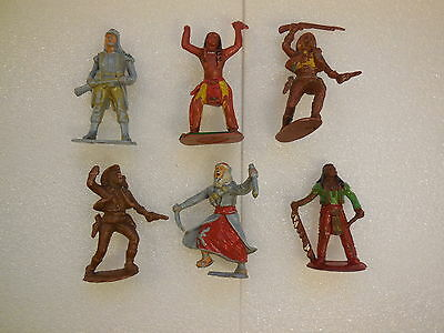 Assorted CHERILEA Indian French Arab 50mm Vintage Plastic Toy Soldiers 1:32