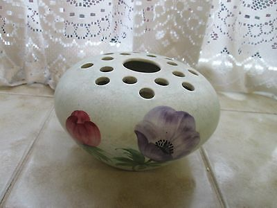 Vintage E. Radford Flower Posy Bowl Hand Painted Studio Pottery Anemone