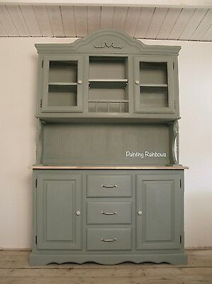 Shabby chic,painted French Dresser,annie sloan, duck egg blue