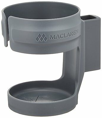 Maclaren Cup Drink Bottle Holder (Charcoal) for pushchairs / prams / buggy