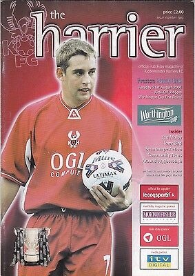 Kidderminster Harriers v Preston North End 2001 / 02 Worthington Cup Rd 1