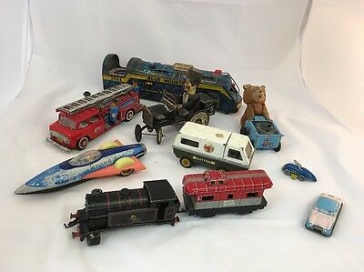 Job Lot Of Vintage Tinplate Toys All Various Ages