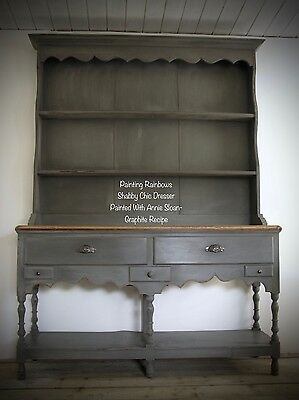 Shabby chic painted Edwardian Pot Stand Dresser,annie sloan, graphite