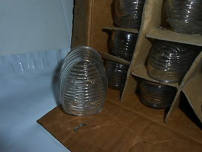 1 Vtg/antique Art Deco Clear Glass Birdcage Feeder/seed/water Cup/bowl Usa  Nos!