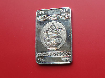 Silver bullion rectangular shaped .999  -  Dimensions: 65x38x3.5 mm, weight 65g.